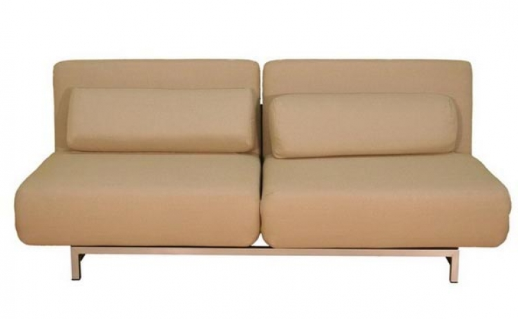 LK06-2-D-02 Two Seater Cream Convertible Sofa - Wholesale Interiors
