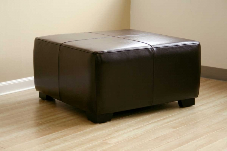 Y-052 Leather Ottoman - Wholesale Interiors