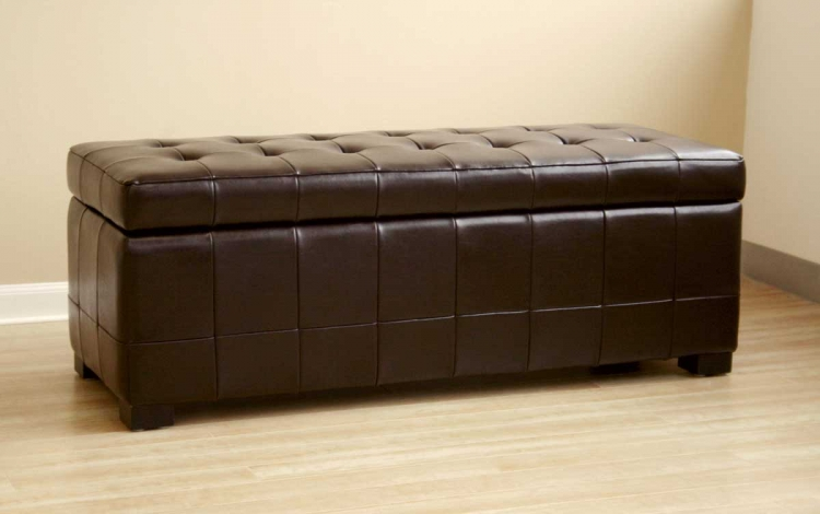 Y-105 Leather Storage Bench/Ottoman - Wholesale Interiors