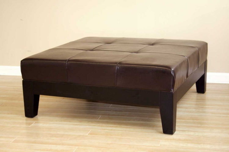Y-195 Leather Ottoman - Wholesale Interiors