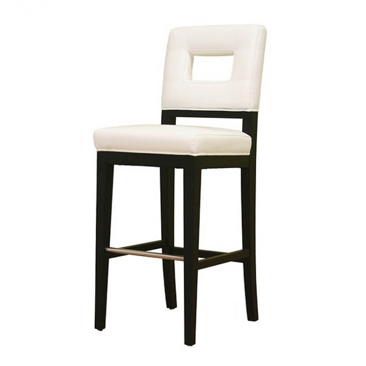 Bianca White Leather Bar Stool - Wholesale Interiors
