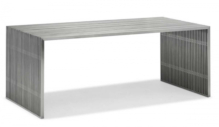 Novel Dining Table - Stainless Steel - Zuo Modern