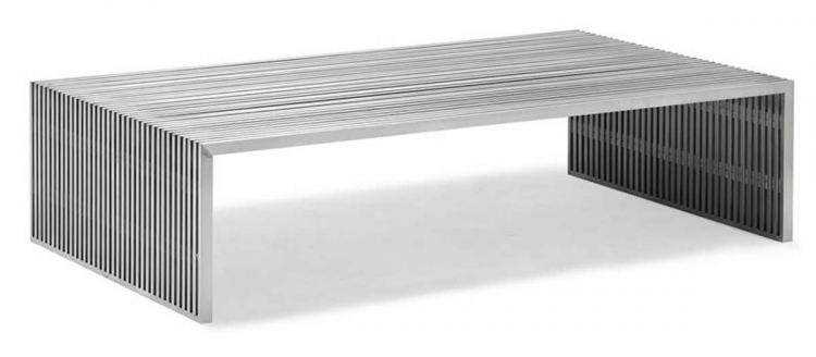 Novel Long Coffee Table - Stainless Steel - Zuo Modern