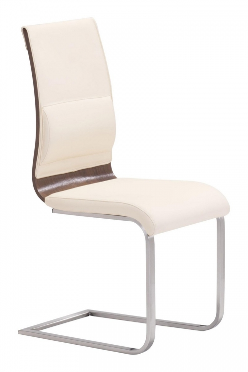 Roxboro Dining Chair - Cream/Walnut