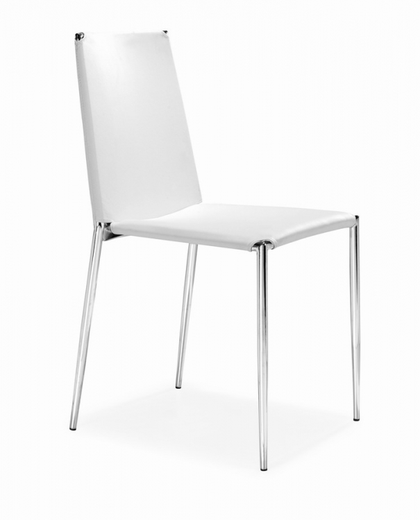 Alex Dining Chair - White - Zuo Modern