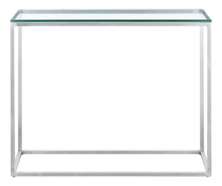 Sprocket Console Table - Brushed Stainless