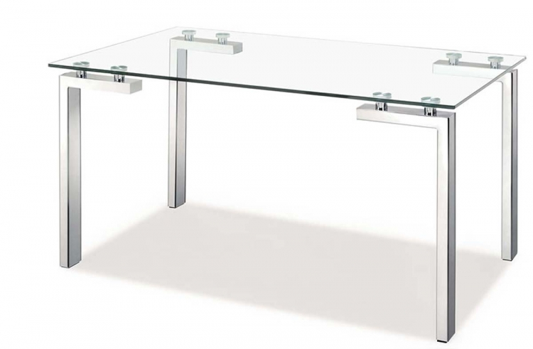 Roca Dining Table - Stainless Steel - Zuo Modern