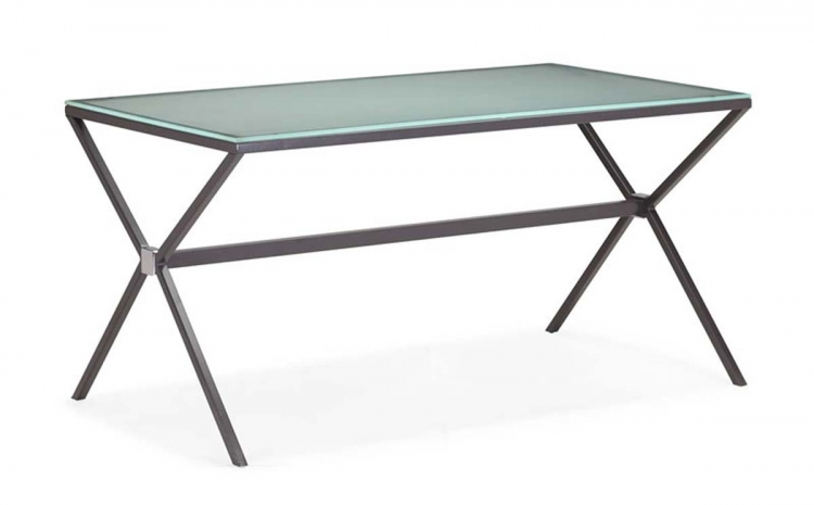 Xert Dining Table - Gray - Zuo Modern