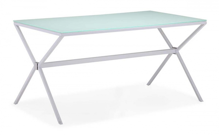 Xert Dining Table - White - Zuo Modern