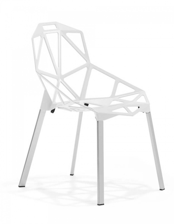 Obscure Dining Chair - White - Zuo Modern