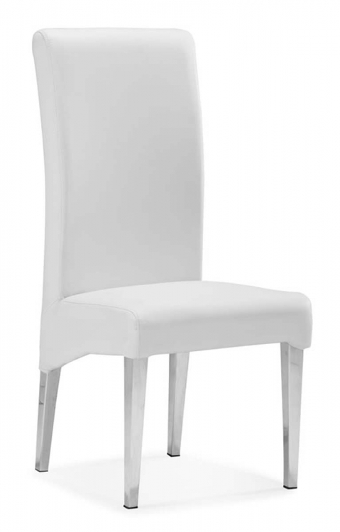 Pencil Dining Chair - White - Zuo Modern