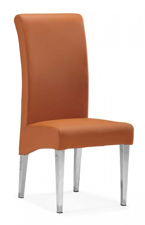Pencil Dining Chair - Terracota - Zuo Modern