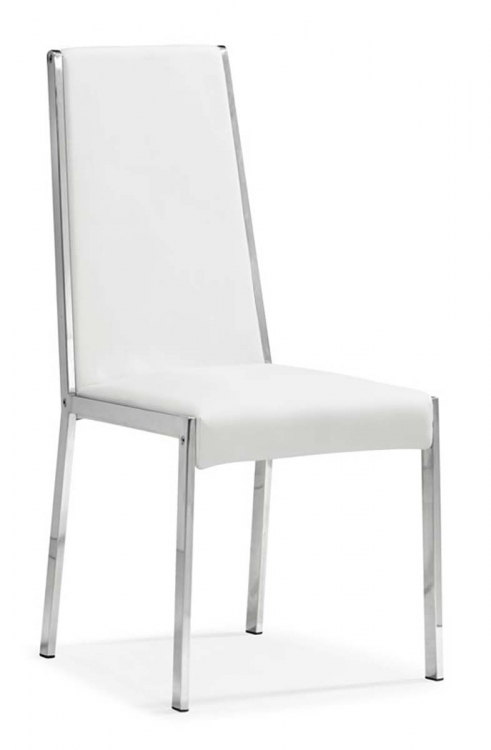 Ink Dining Chair - White - Zuo Modern