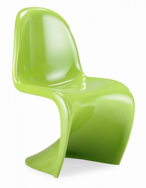 S Chair Dining Chair - Green - Zuo Modern