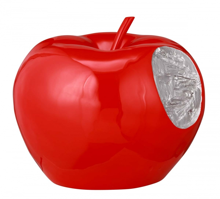 Bitten Apple Sculpture - Red - Zuo Modern