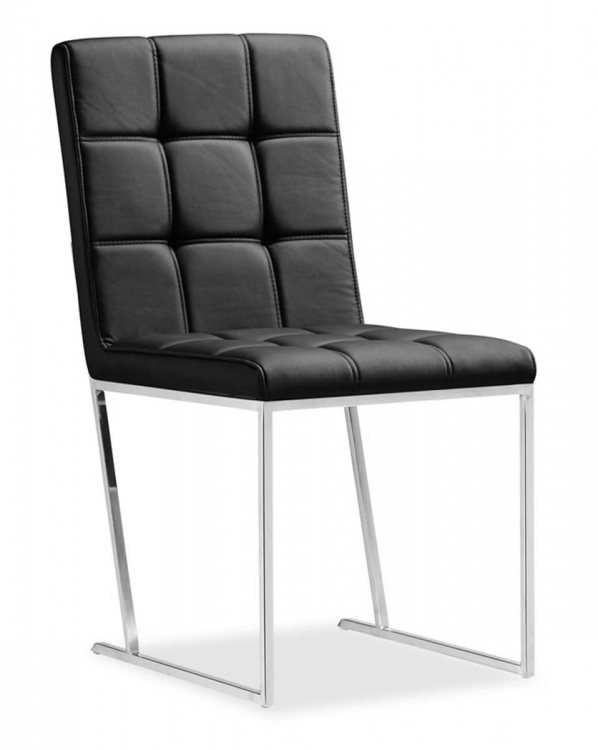 Squire Dining Chair - Black - Zuo Modern