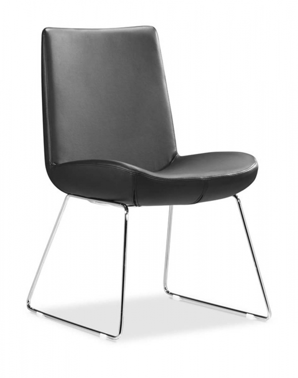 Squall Dining Chair - Black - Zuo Modern
