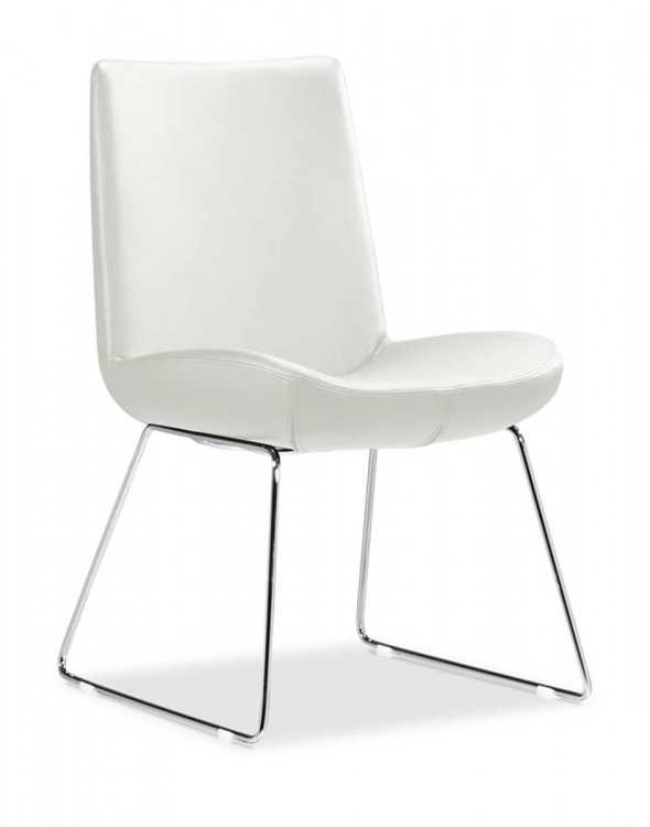Squall Dining Chair - White - Zuo Modern