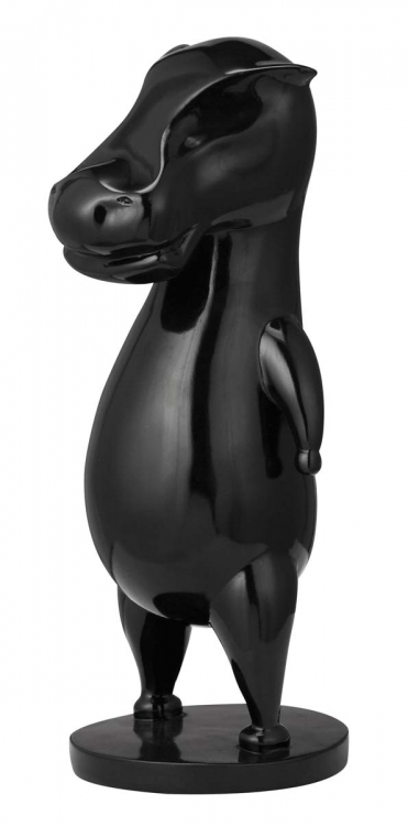Calf Sculpture - Black