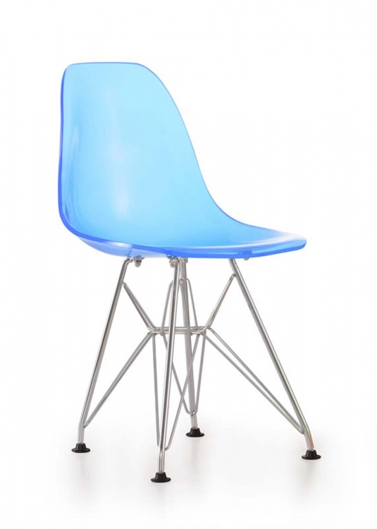 Baby Spire Chair - Transparent Blue - Zuo Modern