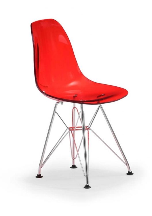 Baby Spire Chair - Transparent Red - Zuo Modern