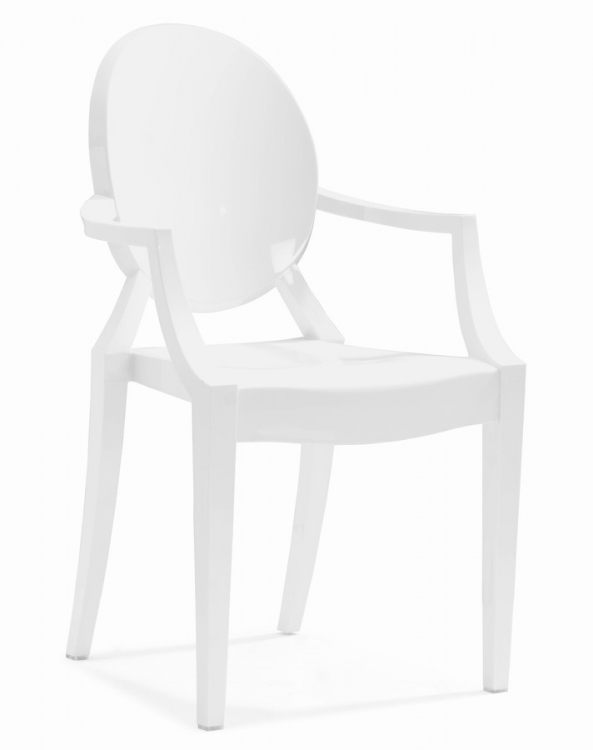 Anime Dining Chair - White - Zuo Modern