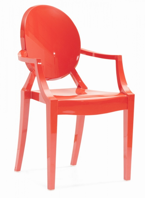 Anime Dining Chair - Red - Zuo Modern