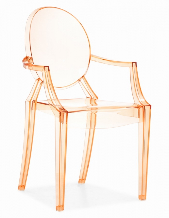 Anime Dining Chair - Transparent Orange - Zuo Modern