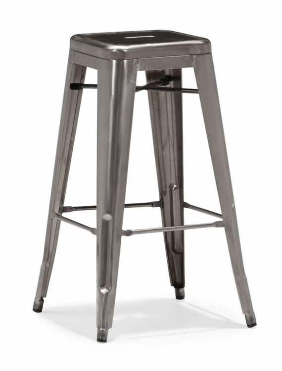 Marius Bar Chair - Gunmetal