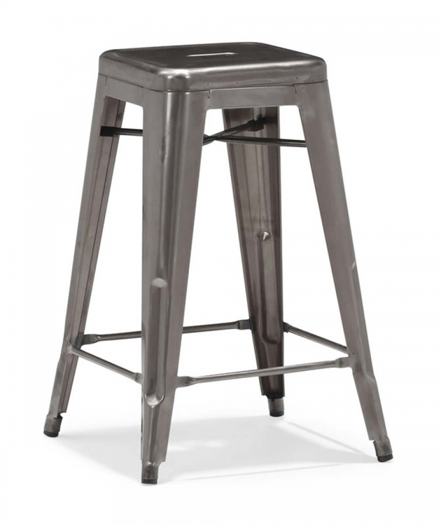 Marius Counter Chair - Gunmetal