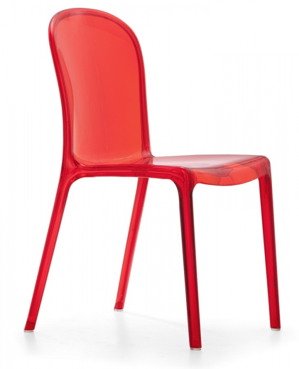 Gumdrop Chair - Transparent Red - Zuo Modern