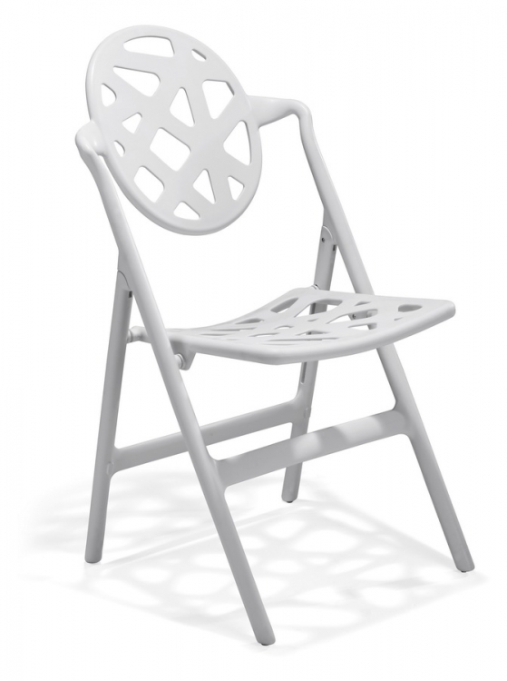 Meringue Folding Chair - White - Zuo Modern