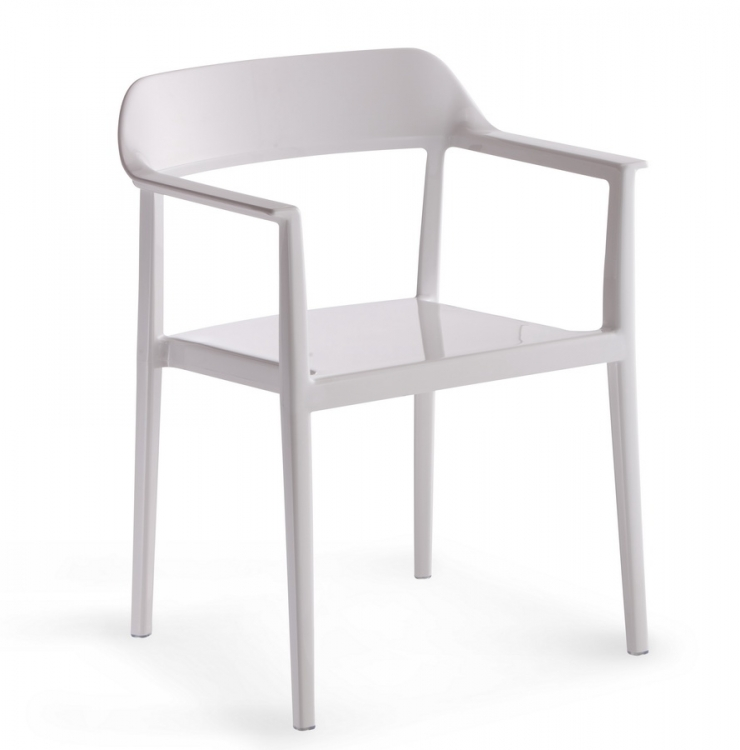 Delight Chair - White - Zuo Modern