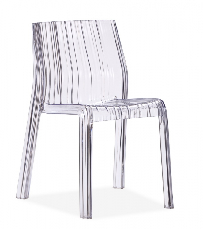 Ruffle Chair - Transparent - Zuo Modern