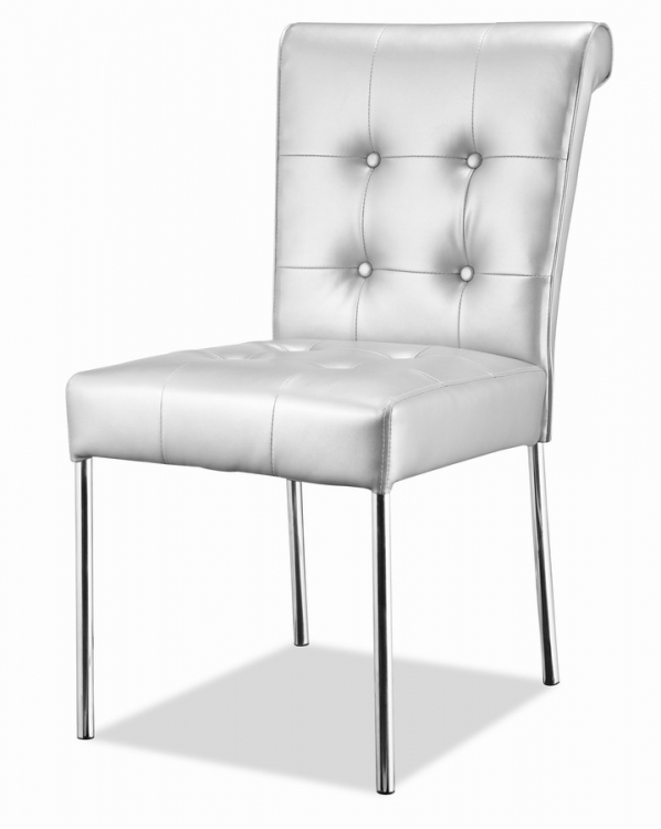 Fox Trot Dining Chair - Silver - Zuo Modern