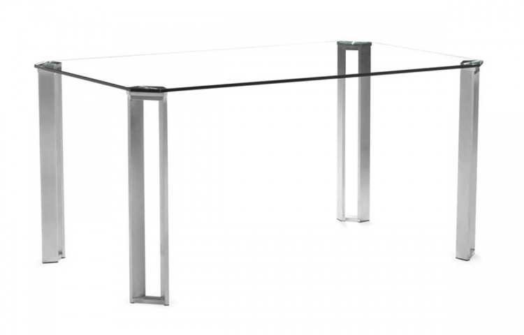 Plume Dining Table - Clear Glass