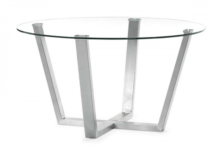 Brush Dining Table - Clear Glass - Zuo Modern
