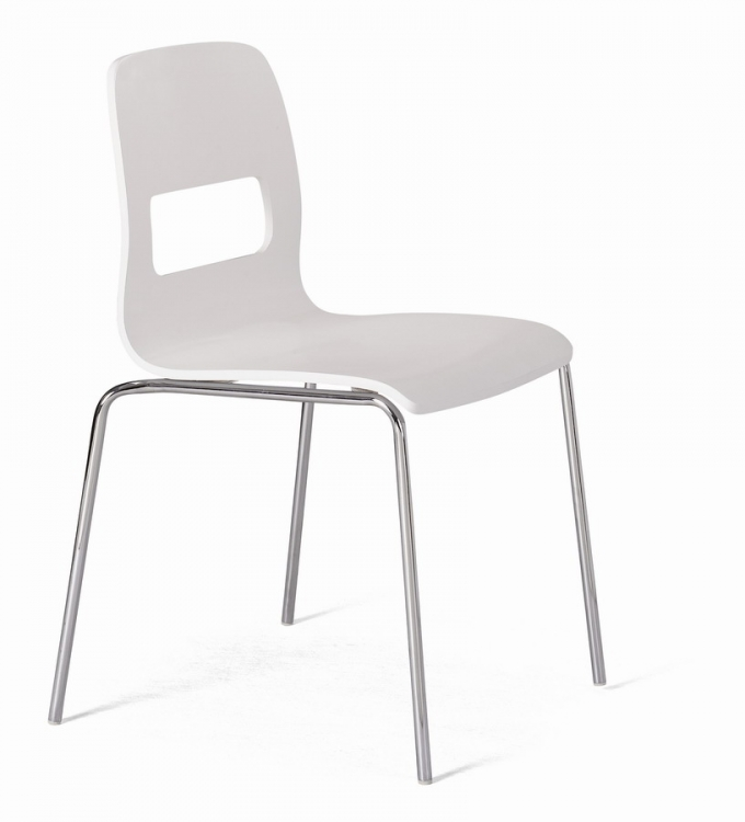 Escape Dining Chair - White - Zuo Modern
