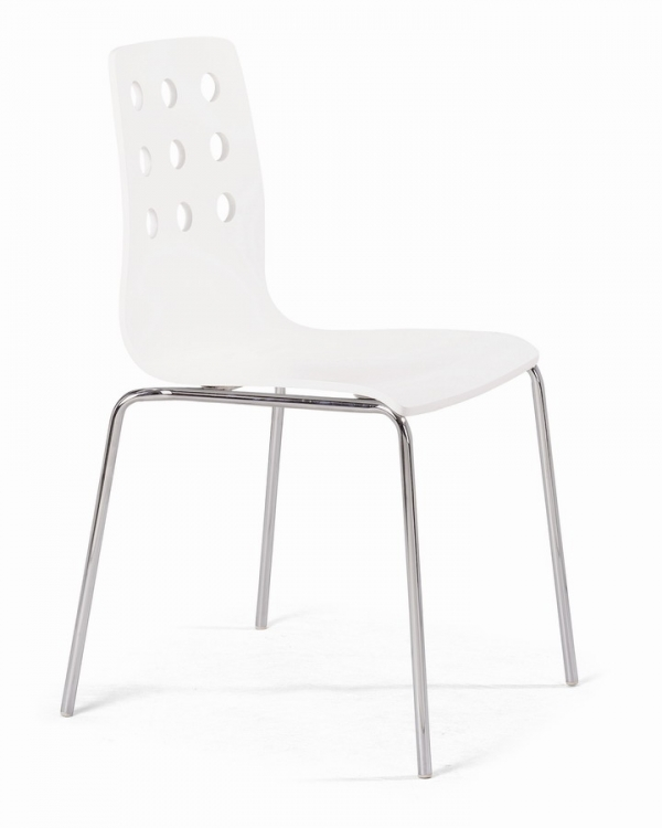 9 Dragons Dining Chair - White - Zuo Modern