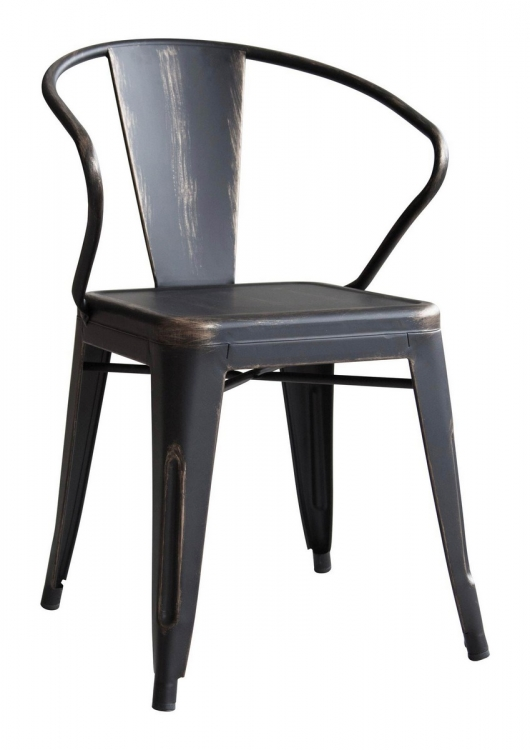 Helix Dining Chair - Antique Black Gold