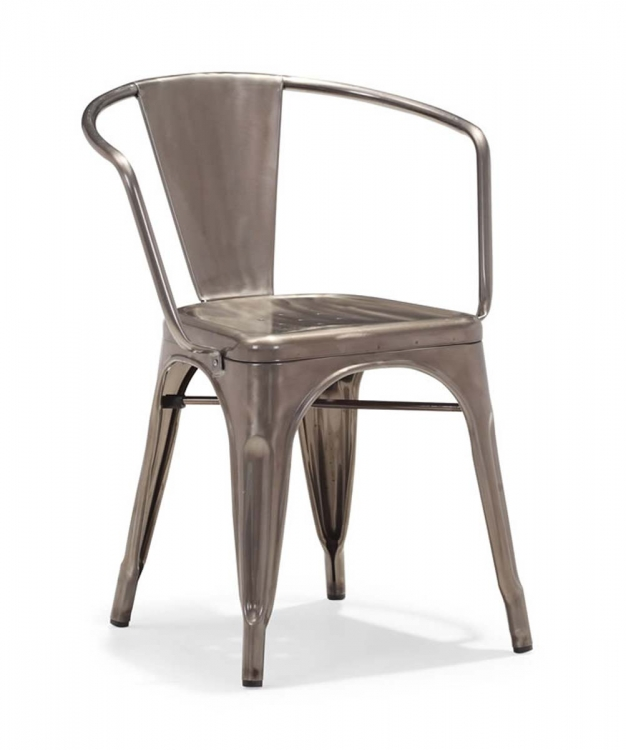 Golem Dining Chair - Gunmetal - Zuo Modern