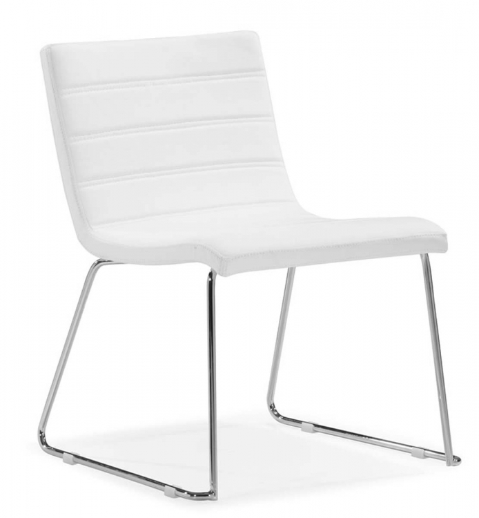 Tag Dining Chair - White - Zuo Modern