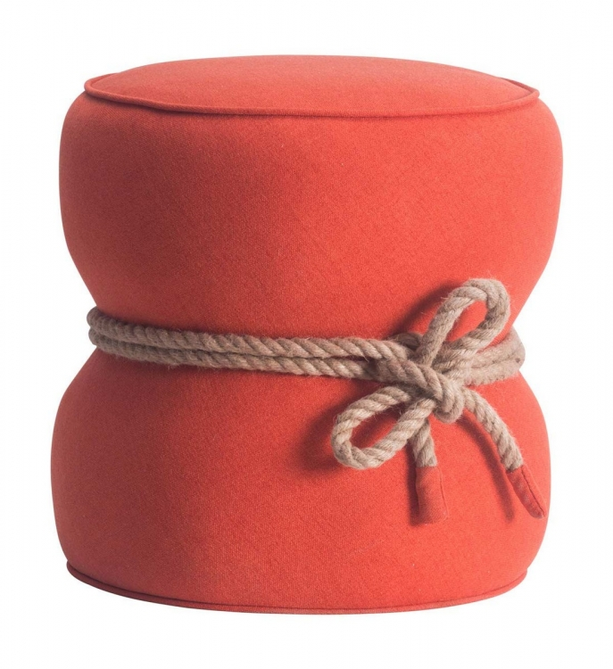 Tubby Ottoman - Orange