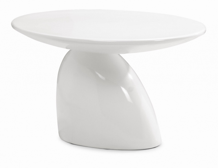 Bolo Table - White - Zuo Modern