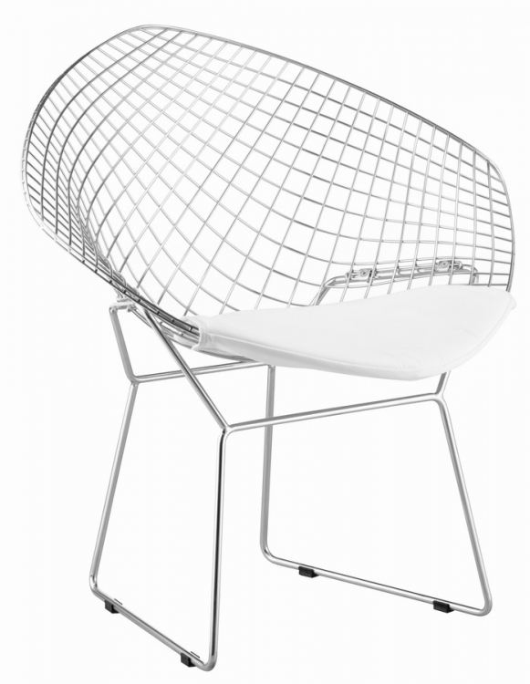 Net Chair - White - Zuo Modern