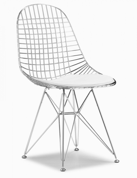 Mesh Chair - Chrome - Zuo Modern