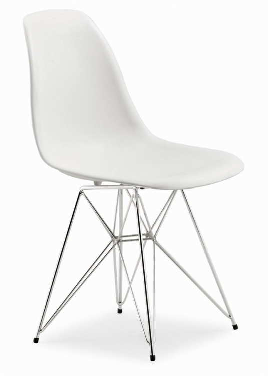 Spire Dining Chair - White - Zuo Modern