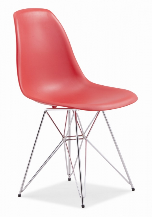 Spire Dining Chair - Red - Zuo Modern