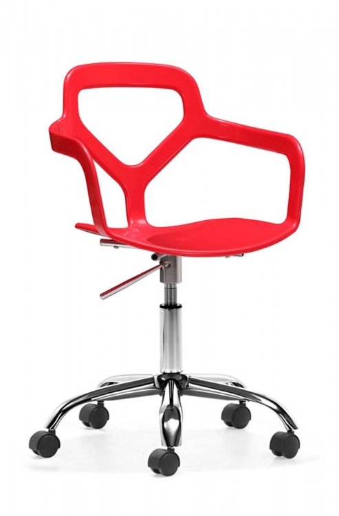 Angle Office Chair - Red - Zuo Modern