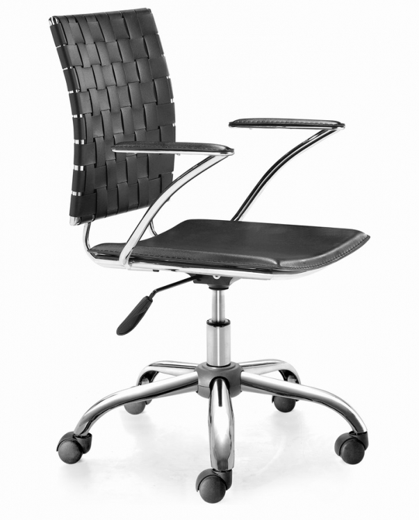 Criss Cross Office Chair - Black